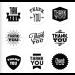 Zwart wit stickers Thank you 9 stuks