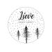 Sticker lieve kerstgroet met kerstboompjes 10 stuks (EG)